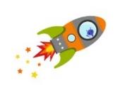 Fliegende Rakete Wandtattoo von Stickerscape - Wandaufkleber (Orange, Reguläres Größe)