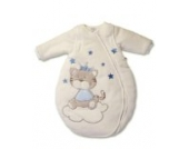 Jacky Winter Schlafsack 350006 Baby mit abnehmbaren Ärmeln, Beige/Blau, Gr. 50/56
