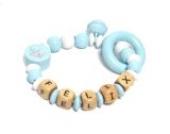Premium Greifling Little Prince mit Namen in hellblau und weiß