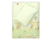 4tlg. Babybettwäsche Set Baumwolle Kinderbettwäsche Bettwäsche Baby Decke Kissen D3