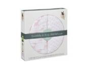 Lässig 2er Pack Swaddle und Burp Blanket XL-Lela Einschlagtuch Mulltuch Pucken Spucken 100% vorgewaschene Baumwolle weich kuschelig flauschig, 2 Stück sortiert, 120 x 120 cm, hell rosa