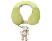 Fehn 081763 Nackenstütze Affe – Nackenkissen mit kleinem Rassel-Affen für Babys und Kleinkinder ab 6+ Monaten – Stützt und entlastet in Kinderwagen, Babyschale oder Auto