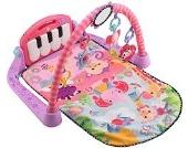 Fisher-Price BMH48 Rainforest Piano-Gym Spielbogen mit Musik und Licht inkl. Spielzeug rosa Babyerstausstattung, ab 0 Monaten
