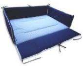 Ideenreich 2106 Laufgittereinlage, 75 x 100 cm, Streifen blau/weiß