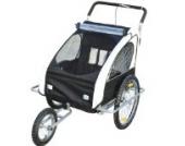 Homcom 5664-0086wbn 2 in 1 Jogger Kinderanhänger Fahrradanhänger Kinder Radanhänger 5 Farben zur Auswahl, weiß/schwarz