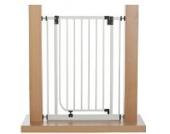 Original IMPAG Treppen und Tür-Schutzgitter EASY STEP HIGH | 62-212 cm| Automatik-Tür | 90° Feststell-Funktion | Einhandbedienung | Öffnet in beide Richtungen | sicherheitsgeprüft 1930:2011