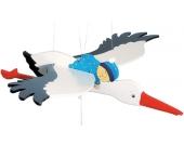 Goki Schwingtier Storch mit Baby (Junge) [Babyspielzeug]