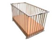 Baby Faltbett Klappbett aus Buchenholz unbehandelt höhenverstellbar