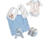 Playshoes Babyerstausstattungsset 6-teilig (Hellblau) [Babykleidung]
