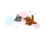 2er-Set Katzenkinder braun + grau getigert - von STEINER - Kuscheltier handgefertigt in Deutschland