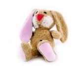 Stofftier Hase mit entnehmbarer Spieluhr und Namen bestickt - Einseitig mit max. 10 Zeichen im Artikelpreis enthalten - von STEINER - Kuscheltier handgefertigt in Deutschland