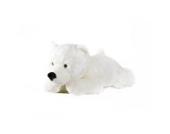 Eisbär Schneeflocke liegend - 45 cm - Plüschtier von STEINER - handgefertigt |weiß-weicher Polarbär | kuscheliger Knut für Weihnachten, Geburtstag | XXL Kuscheltier Geschenk-Idee
