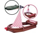 Sun Sandkasten Boot Pirat (Braun-Rot) [Kinderspielzeug]