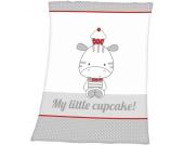 Herding Baby-Flauschdecke My little Cupcake (Wei�-Grau) [Babyspielzeug]