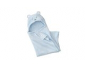 Zenness Multifunktions niedliche Bären Infant Wrap Soft Baby Bade Kapuzenhandtuch (Blau)