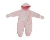 Baby Schneeanzug mit Kapuze, Baum, I Love You (3-6 Monate (62)) (Pink)