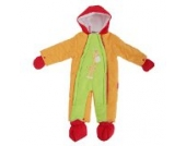 Baby Schneeanzug mit Kapuze, Giraffe, Bunt (3-6 Monate (56-62)) (Orange/Limette)