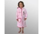 Bademantel mit Namen Prinzessin rosa-pink Größe 74/80
