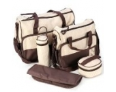 Surepromise 5tlg Wickeltasche Babytasche Pflegetasche Tasche Braun Baby Geschenkidee NEU