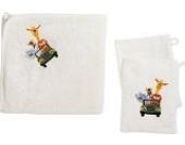 Kinderbutt Frottier-Set 3-tlg. Frottier natur Größe 140x140 cm + 15x21 cm