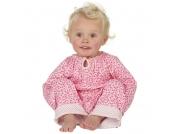 Piccalilly - Schlafanzug Blumen rosa im Stoffbeutel, kbA