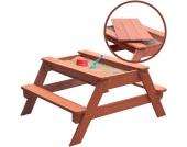 Sun Kindersitzgarnitur mit Sandkasten Freddy 2in1 (Braun) [Kinderspielzeug]
