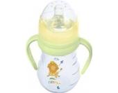 Premium Trinklernflasche mit Griffen inkl. Sauger und Schnabel 250 ml Hippo grün