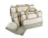 LATH.PIN 5tlg Babytasche Set Pflegetasche Tragetasche Wickeltasche Kinder Baby Windeltasche (Khaki)