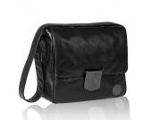 LÄSSIG Wickeltasche Messenger Bag Tender black - schwarz