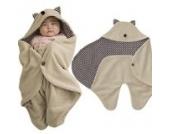 Hibote Cute Cartoon geformt Multifunktions weichem Fleece Neugeborenen Baby Wickeltisch Decke Wrap Buggy Babyschlafsack