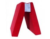 Nanito Spielpolster Klapppolster Matratze Cord Rot