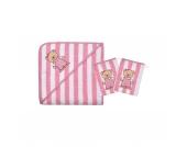 Set Kapuzenbadetuch mit 2 Waschlappen, Teddy Ringel, rosa, 80 x 80 cm