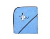 Wörner Südfrottier Dino mit Kappe hellblau Kleinkind-Bademantel, Lätzchen, Badetücher, Waschhandschuh, Badeponcho, Schlafanzüge (Kapuzenbadetuch 100x100cm)