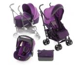 JANE Buggy Nanuq XL inklusive Babyschale Koos und Tragewanne Nano Plum - lila
