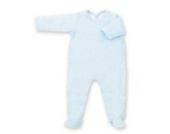 Bemini by Baby Boum 563STAR361JP Schlafstrampler, 6 - 12 Monate Jersey - Baumwolle, 61 frost