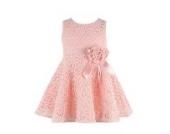 Tonsee Bestseller 2015 neue Ankunft Mädchen Prinzessin Kleid O Hals heraus Entwurf Mädchen Kleid ärmellos Blume Detail hohl (0-1 Y)