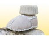 Baby-Lammfellschuhe mit Strickbündchen, sand (20/21)