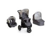 Hauck Viper SLX Trio Set, von Geburt bis 15 Kg Reisesystem einschließlich Autositz, Babyschale und Regenschutz, 3 Räder, dunkelgrau