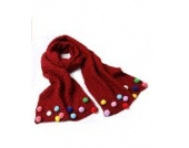 Ayouyou Herbst Winter Mode Mädchen Gestrickte Warme Bonbonfarbenen Schal mit Fransen Schal (Kastanienbraun)