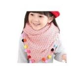 Ayouyou Herbst Winter Mode Mädchen Gestrickte Warme Bonbonfarbenen Schal mit Fransen Schal (Pink)