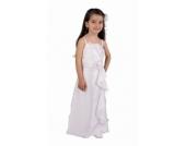 Nr. 307 KLEID Festkleid mit STOLA zur Kommunion Konfirmation Taufe Hochzeit WEISS oder IVORY 6-16 Jahre