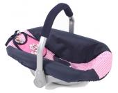 Bayer Chic 2000 Puppenautositz mit Lätzchen (Pink Checker) [Kinderspielzeug]