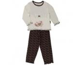 MOONLINE Girls Mini Schlafanzug LOTTA offwhite - beige - Mädchen