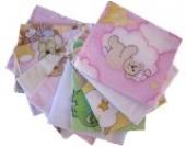Flanellwindeln mini 40/35 - 10er Pack für Mädchen -weiche Waschlappen