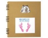 Baby Art 549217 - Photo Album mit Stempel für Fußabdruck, taupe