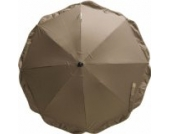 Playshoes 4010952287042 Sonnenschirm für Kinderwagen mit UV Schutz braun, 70 cm