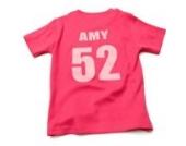Nappy Head Individuelles Baby/Kinder-T-Shirt - Pink mit kurzen Ärmeln (Fußballhemd),18-24 Monate