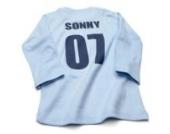 Nappy Head Individuelles Baby/Kinder-T-Shirt - Himmelblau mit langen Ärmeln (Fußballhemd),0-6 Monate
