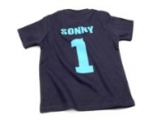 Nappy Head Individuelles Baby/Kinder-T-Shirt - Marineblau mit kurzen Ärmeln (Fußballhemd),12-18 Monate