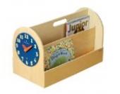 Die innovative tragbare Kinderbücherbox aus Holz – Aufbewahrungssystem mit abnehmbarer Spieluhr
